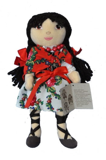 Plush Doll in Tatra mountain regional costume 25 cm